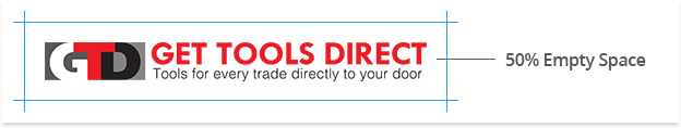 Get Tools Direct Logo Spacing